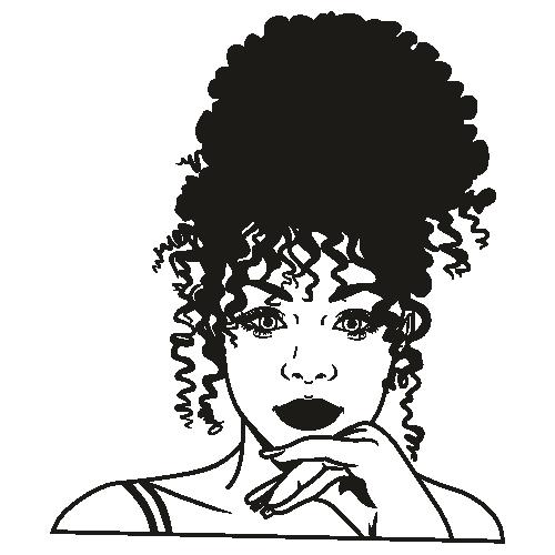 Clipart black girl afro Black Girls
