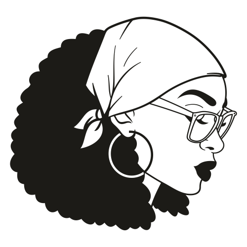 Afro svg girl black Cute Black