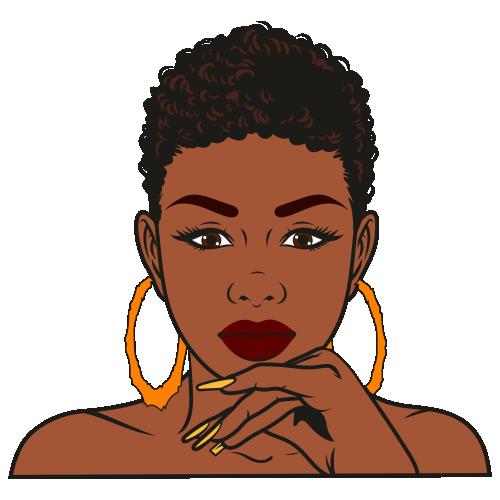 Girl afro vector black Black women